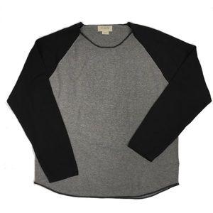 J. Crew 2-Tone Cotton Men's Baseball Sweater